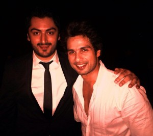 With Shahid Kapoor